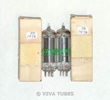 NOS NIB Date Matched Pair Sylvania USA 50B5 Black Plate O Get Vacuum Tubes 100+%
