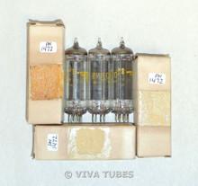NOS NIB Date Matched Trio (3) Sylvania USA 50B5 Black Plate O Get Vacuum Tubes