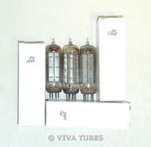 NOS Matched Trio (3) GE USA 50C5 [HL92] Chrome Plate Top [] Get Vacuum Tubes