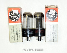 NOS NIB Matched Pair GE USA 50L6GT Black Plate Top O Get Vacuum Tubes 100%