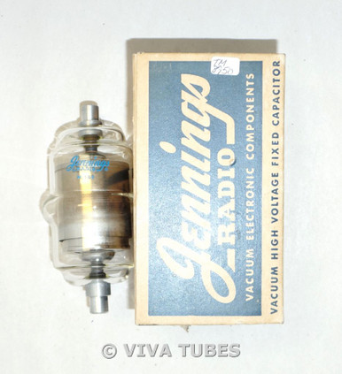 NIB Jennings USA W-100 Vacuum Tube Fix Voltage Capacitor Vacuum Tube