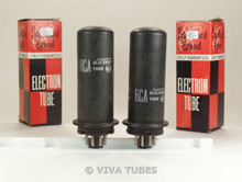 NOS Matched Pair RCA USA 1631 Metal Vacuum Tubes 100+%