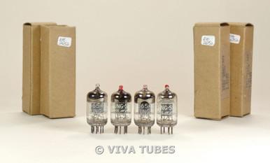 NOS NIB Matched Quad (4) Tung-Sol USA JTL-5654/6AK5W Painted Tip Vacuum Tubes