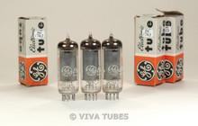 NIB NOS Date Matched Trio (3) GE USA 5763 [6062] Grey Plate O Get Vacuum Tubes