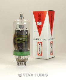 NOS NIB Raytheon Japan 42KN6 Grey Plate Side 2 O Get Green Stripe Vacuum Tube