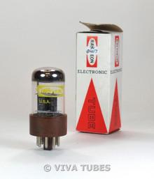 NOS NIB Raytheon USA CK-5691 [Hi-Fi 6SL7] Short O Plate Brown Base Vacuum Tube