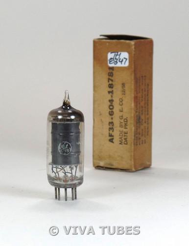 GE USA 5750 [6BE6] Black Plate Fat D Get Vacuum Tube 79%