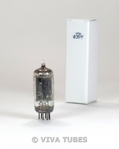 GE 5 Star USA 5750 [6BE6] Black Plate Fat D Get Vacuum Tube 83%