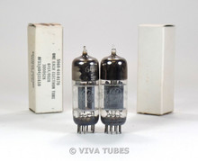 NOS Matched Pair GE Gray Plate 3 Mica 6414 (12AT7 12AU7 sub) Vacuum Tubes