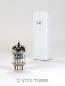 Amperex PQ Holland 5847 [404A] Grey Plate True D Get Gold Pins Vacuum Tube 75%