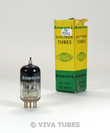 NIB Amperex Holland 7714/Z805U Silver Plate Top Get Gold Pins Vacuum Tube
