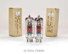 NOS NIB Date Matched Pair Bendix USA 5993 Black Plate 4 Mica S-Rods Vacuum Tubes