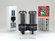 NOS Date Matched Pair GE USA 5Y3GT 2 Grey Plate O Get Vacuum Tubes 100+%