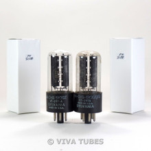 NOS Matched Pair Sylvania US JAN-CHS-5Y3GT/VT-197A Black Plate Vacuum Tubes