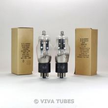 Matched Pair 1950's NOS NIB RCA JAN-CRC-6C8G Round Black Plate Vacuum Tubes