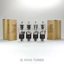 Matched Quad (4) 1950's NOS NIB RCA JAN-CRC-6C8G Round Black Plate Vacuum Tubes