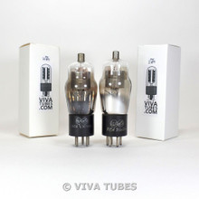 NOS Matched Pair RCA Victor USA Type 24A Silver Mesh Plate Vacuum Tubes