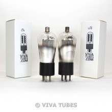 NOS Matched Pair RCA USA Type UY-224 = 24 ENGRAVED Globe Vacuum Tubes