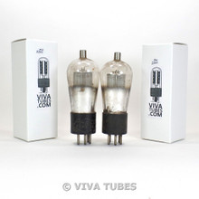 Tests NOS Date Matched Pair Philco USA Type 24 ENGRAVED Globe Vacuum Tubes