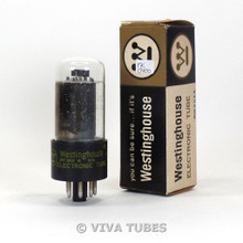 True NOS NIB Westinghouse USA 7355 [Uprated 6V6GT] Gray Plate Rattle Vacuum Tube