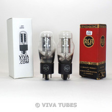Tests NOS Date Matched Pair RCA USA 0C3/VR105 [OC3] Vacuum Tubes