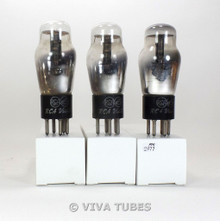 Matched Trio (3) RCA Victor USA Type 27 Black Plate D Foil Get Vacuum Tubes 80%