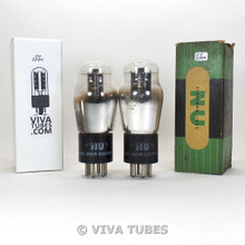Tests NOS Date Matched Pair NU National Union Type 43 Black Plate Vacuum Tubes