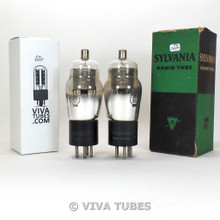 Tests NOS Date Matched Pair Sylvania USA Type 35/51 Mesh Plate Vacuum Tubes