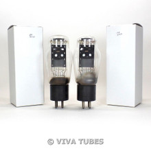 Tests NOS Date Matched Pair Sylvania Type 50 Black Plate ENGRAVED Vacuum Tubes