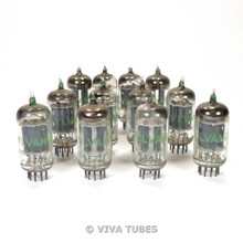 1968 Date Code Matched Set of 12x Sylvania 5963 [Industrial 12AU7] Vacuum Tubes