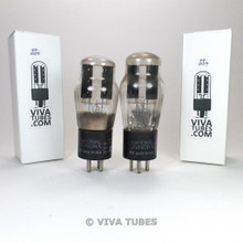 Tests NOS Date Matched Pair National Union NU USA Type 80 Rectfier Vacuum Tubes