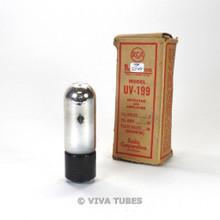 True NOS NIB RCA USA UV-199 [Type 99, 299] Plate ENGRAVED Short Pins Vacuum Tube