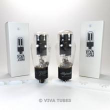Matched Pair GE USA 5U4G Black Plate Vacuum Tubes Test = 50/46 & 50/48