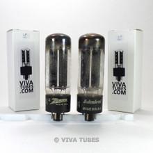 Tests NOS Matched Pair GE USA 5U4GA Black Plate 1952 TALL Vacuum Tubes 100+%