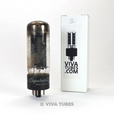 GE USA 5U4GA/5U4GB Black Plate 1956 TALL Vacuum Tube Test = 42/52