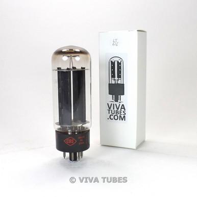 CBS-Hytron USA 5U4GB Black Plate 2 1959 TALL Vacuum Tube Test = 48/52