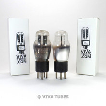 Tests NOS Date Matched Pair RCA Cunningham USA 84/6Z4 ENGRAVED Vacuum Tubes