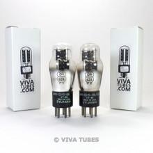 Tests NOS Date Matched Pair Sylvania JAN-CHS-84/VT-84 = 6Z4 3 Mica Vacuum Tubes