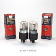 Tests NOS Date Matched Pair CBS-Hytron USA 1Q5GT Vacuum Tubes 100%+