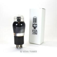 Tests NOS Ken-Rad USA 2A5 Black Plate Smoked Glass ENGRAVED Vacuum Tube 100%+