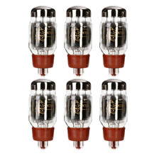 New Current Matched Sextet (6) Reissue Genalex Gold Lion KT66 6L6 Vacuum Tubes