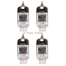 New Gain Matched Quad (4) Mullard Reissue CV4004 / 12AX7 Low Noise Vacuum Tubes