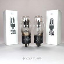 Tests NOS Date Matched Pair GE USA 5V4G Black Plate [] Get Vacuum Tubes 100%