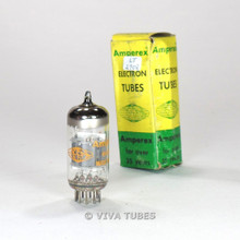 True NOS NIB Amperex Holland 6AQ8/ECC85 Grey Plate Top O Get Vacuum Tube 100%+