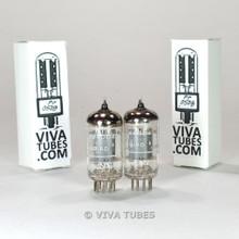 True NOS Date & Gain Matched Pair - Brimar CV4004 [12AX7 ECC83] Box Plate Tubes