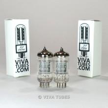 True NOS Date & Gain Matched Pair Brimar - CV4004 [12AX7 ECC83] Box Plate Tubes