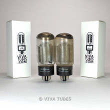 Tests NOS Date Matched Pair HP USA 6AS7GA Black Plate O Get Vacuum Tubes 100%+