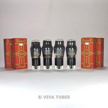 True NOS NIB Matched Quad (4) Brimar England - 6V6G Smoked Vacuum Tubes 100+%
