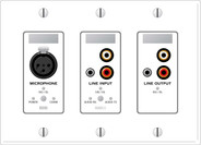 Rane RAD11W Mic In / Line In / Line Out  - White
