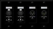 Rane RAD12B Mic Inputs / Line Outputs - Black